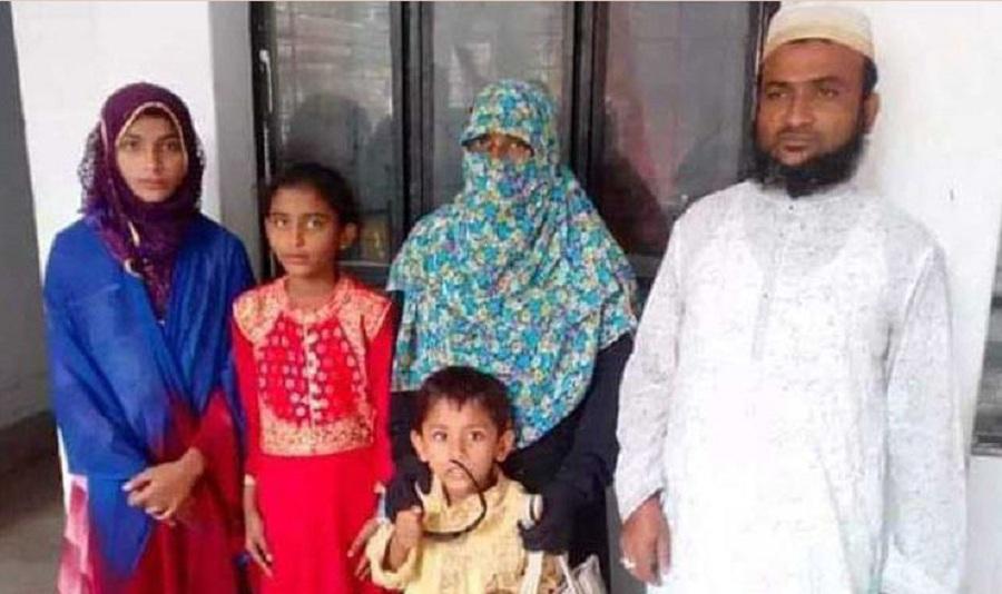 স্ত্রী ও ৩ ছেলে-মেয়েকে নিয়ে ইসলাম ধর্ম গ্রহণ